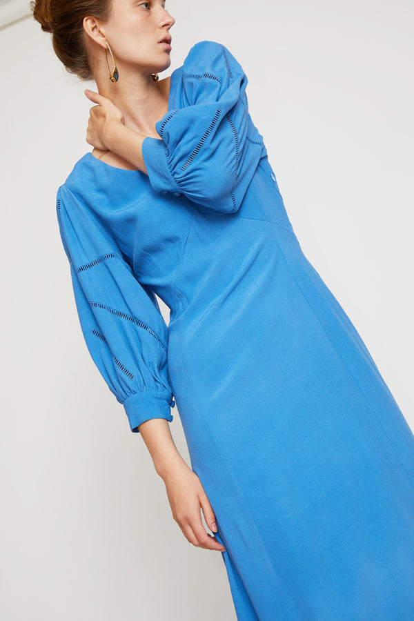 No.6 Beatrice Dress in Blue Rayon