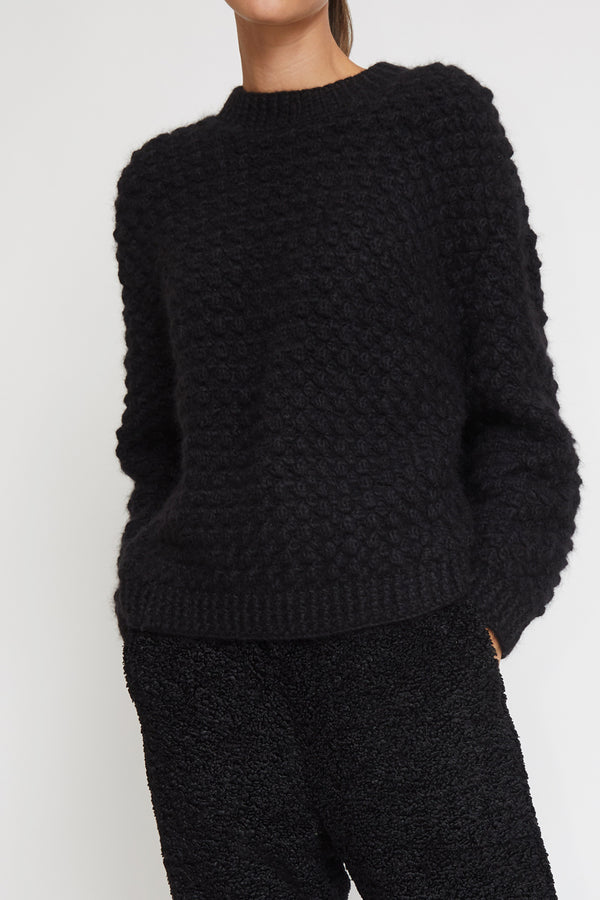 No.6 Bryce Sweater in Black Alpaca