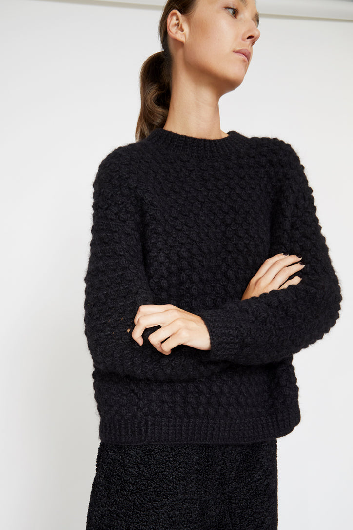 Image of No.6 Bryce Sweater in Black Alpaca