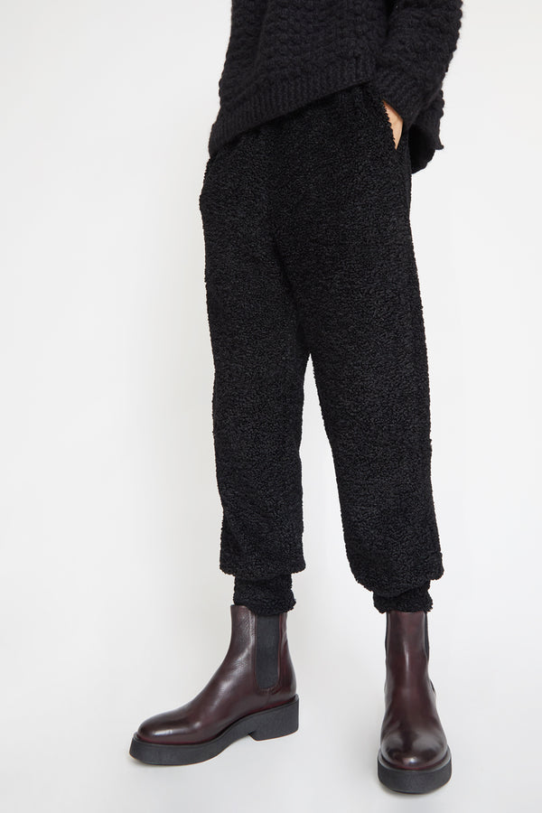 No.6 Costanza Fleece Pant in Black