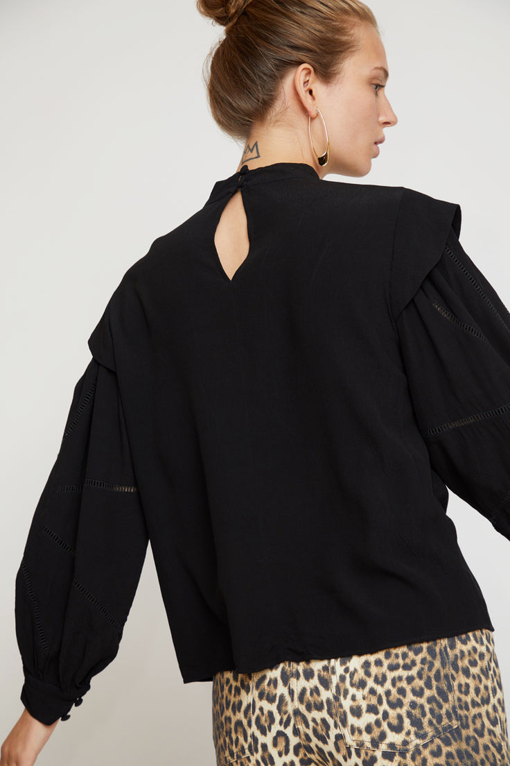 Image of No.6 Gillian Top in Black Rayon