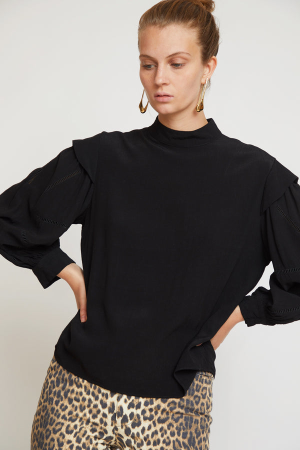 No.6 Gillian Top in Black Rayon