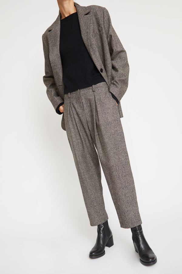 No.6 Hollis Pant in Charcoal Tweed