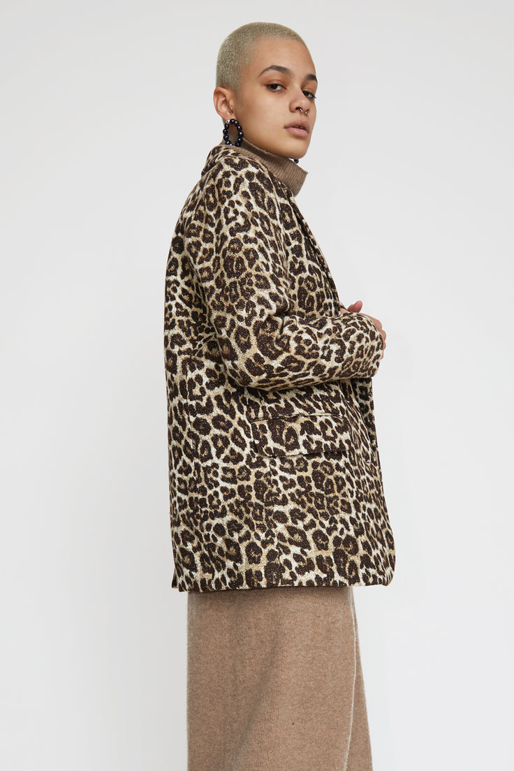Image of No.6 Leon Blazer in Leopard Chenille