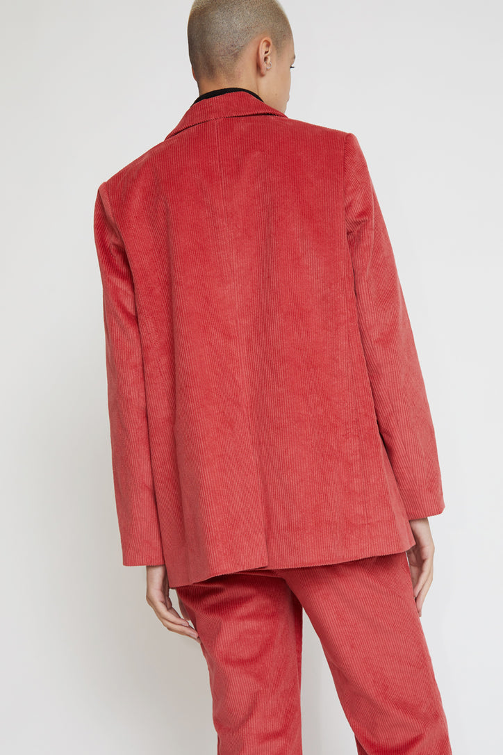 Image of No.6 Leon Blazer in Rose Corduroy