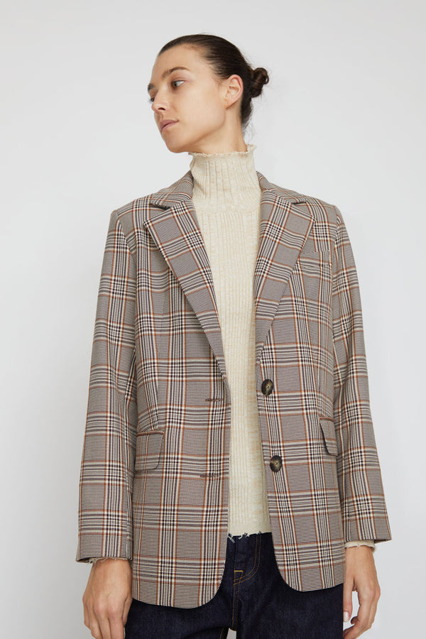 No.6 Leon Blazer in Oxford Plaid