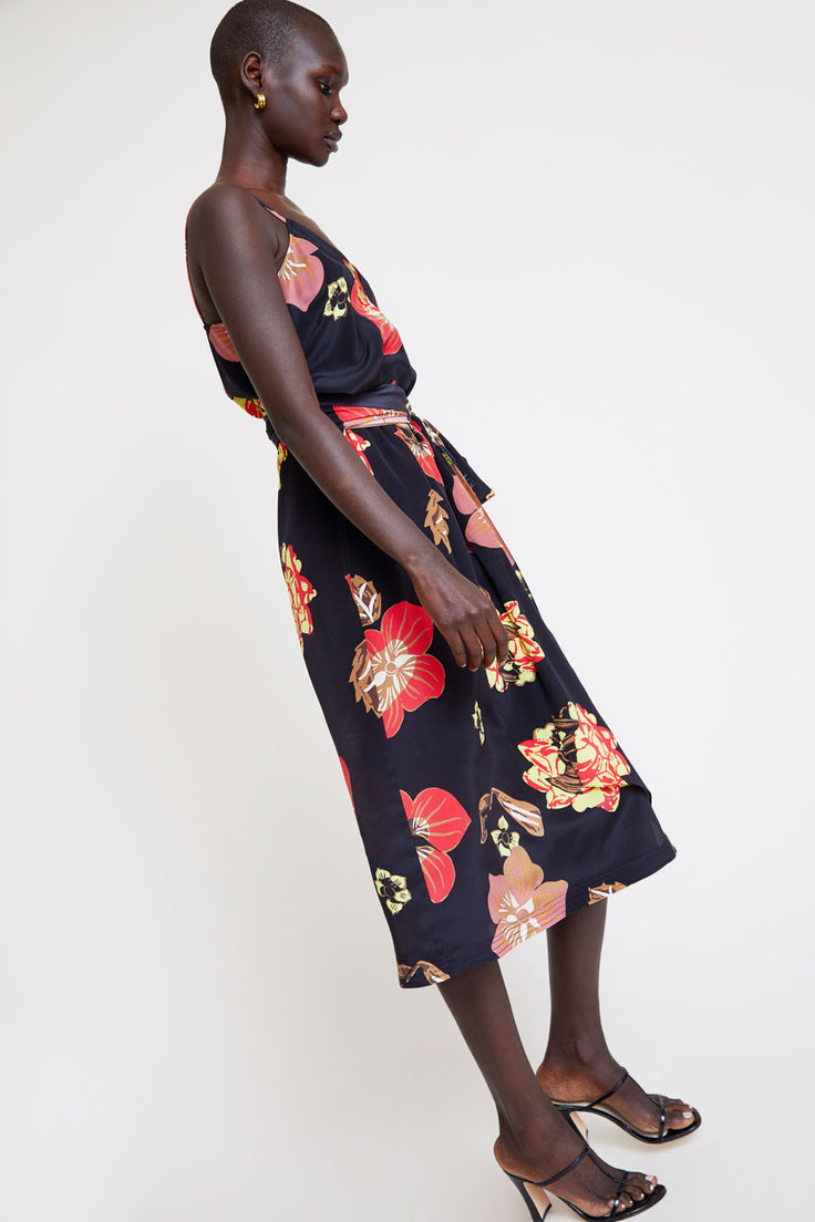 Image of No.6 Margot Wrap Dress in Black Large Scarf