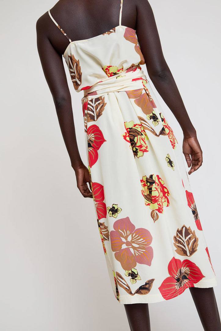 Image of No.6 Margot Wrap Dress in Cream Large Scarf
