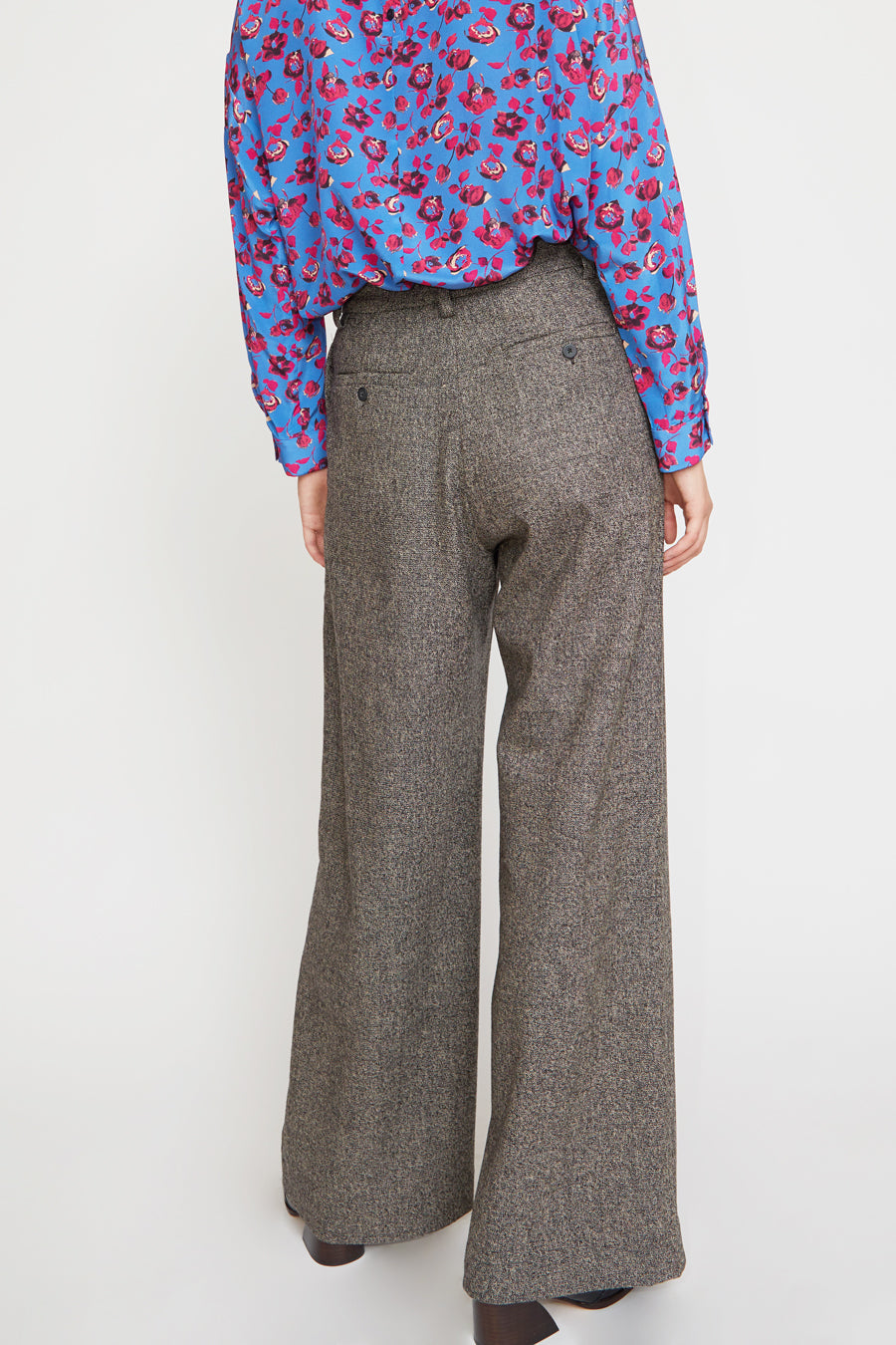 No.6 Owen Pant in Charcoal Tweed