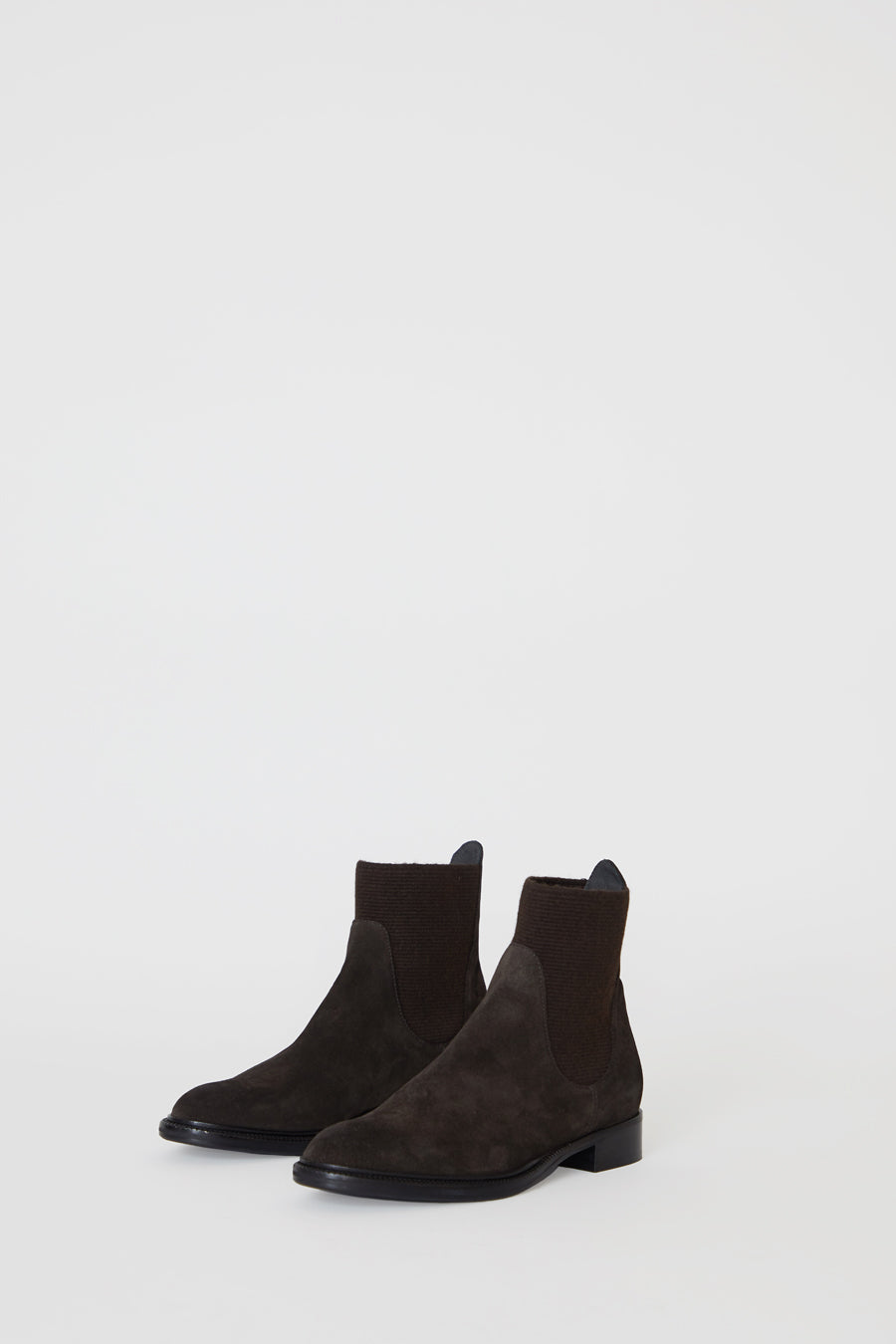 No.6 Flat Suede Pull on Boot in Espresso