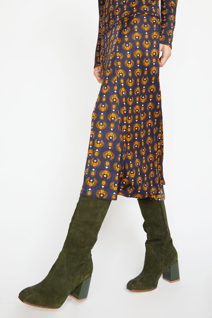 Image of No.6 Sloan Knee High Boot in Pine / Bottle
