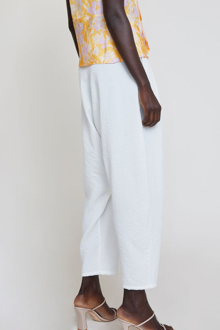 Image of No.6 Sorrento Trouser in White Crinkle
