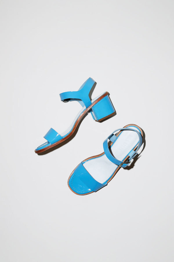 No.6 Palermo Sandal in Cornflower Patent