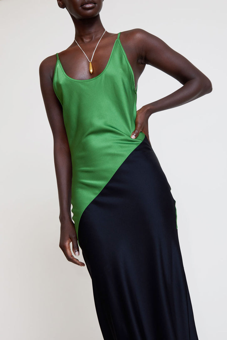 Image of Paris Georgia Mala Dress in Court Green / Black