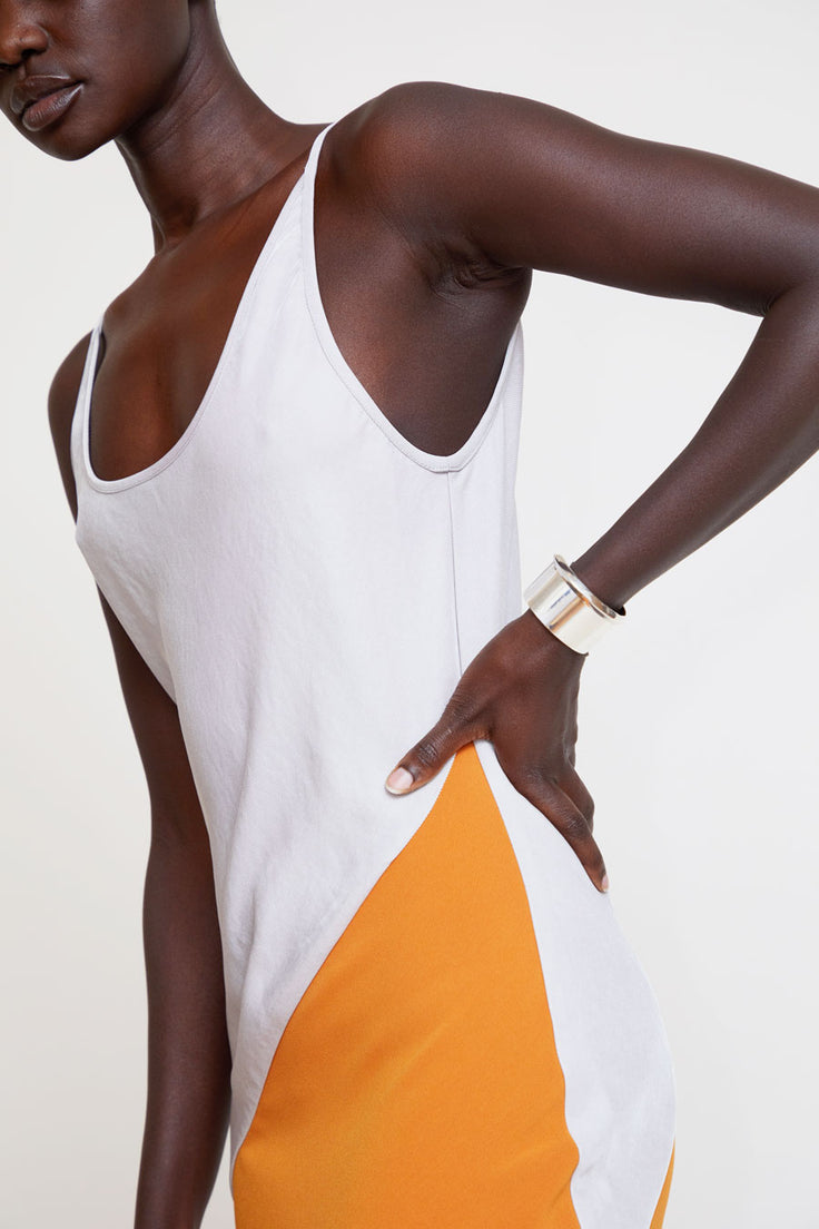 Image of Paris Georgia Mala Dress in Natural / Burnt Orange