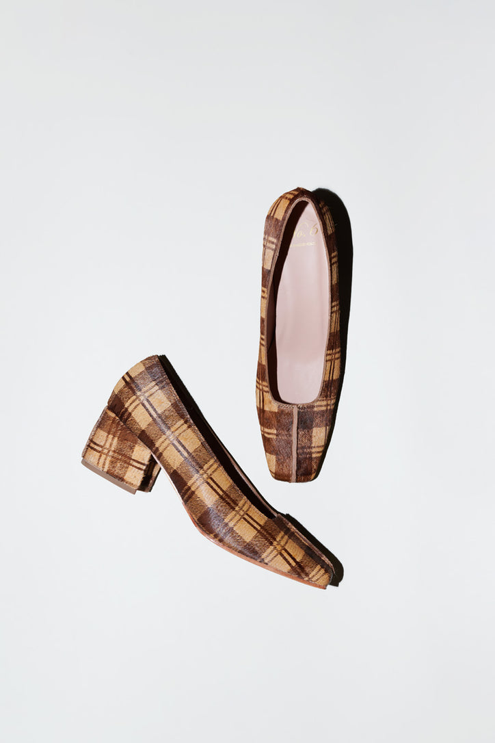Image of No.6 Ada Pump in Plaid Pony