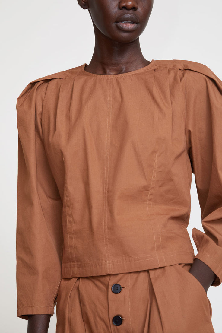 Image of Polder Ayumi Top in Toffee