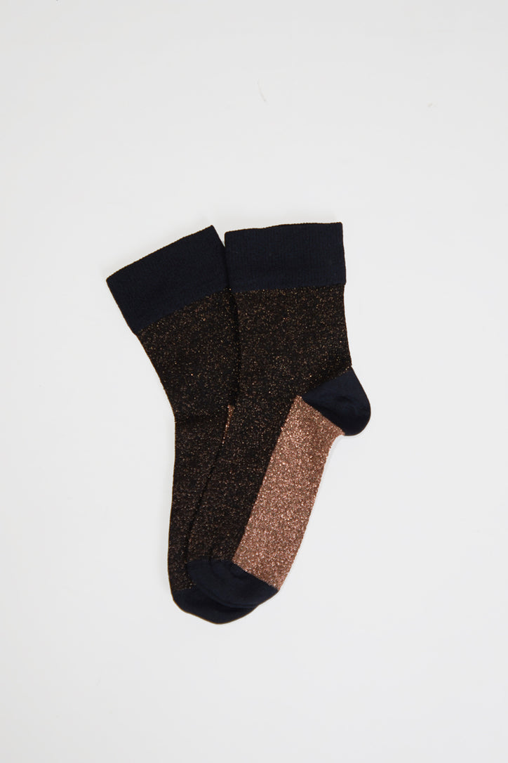 Image of Polder Arcando Colorblock Socks in Brown
