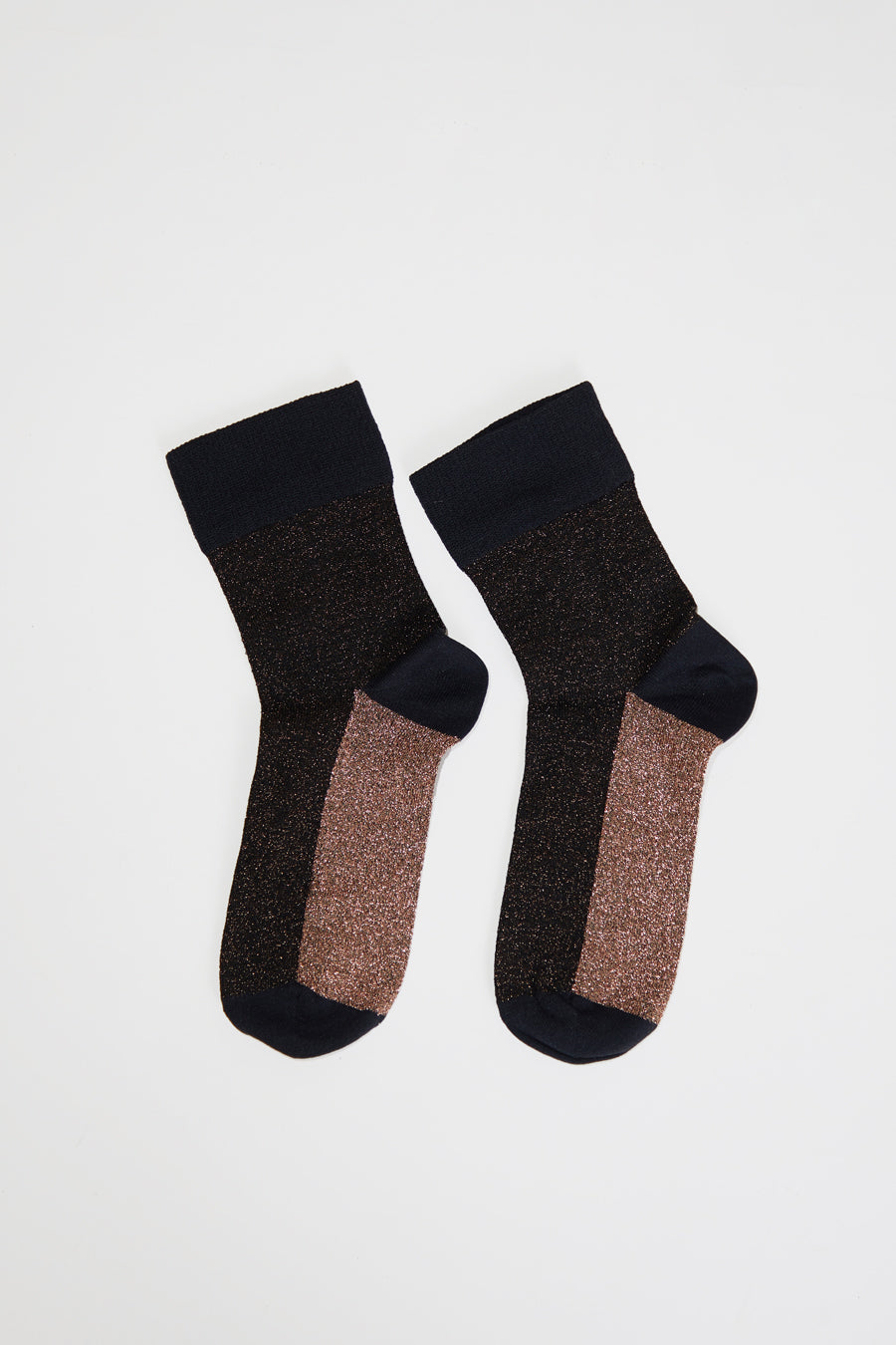 Polder Arcando Colorblock Socks in Brown