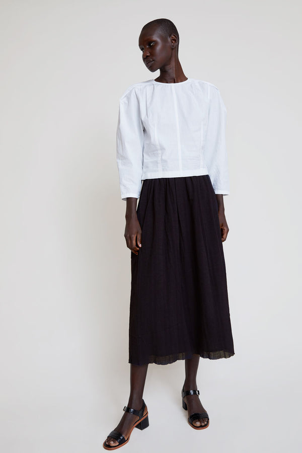 Polder Serge Long Skirt in Black