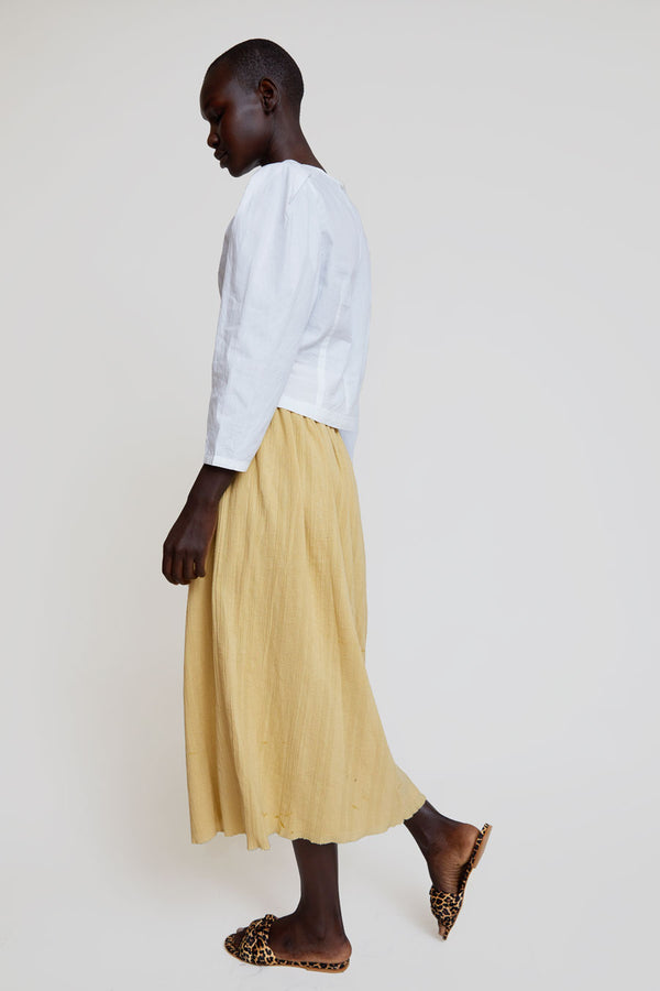 Polder Serge Long Skirt in Vanilla