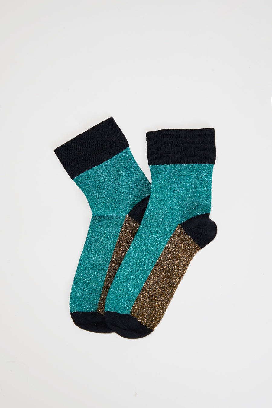 Polder Arcando Colorblock Socks in Aqua