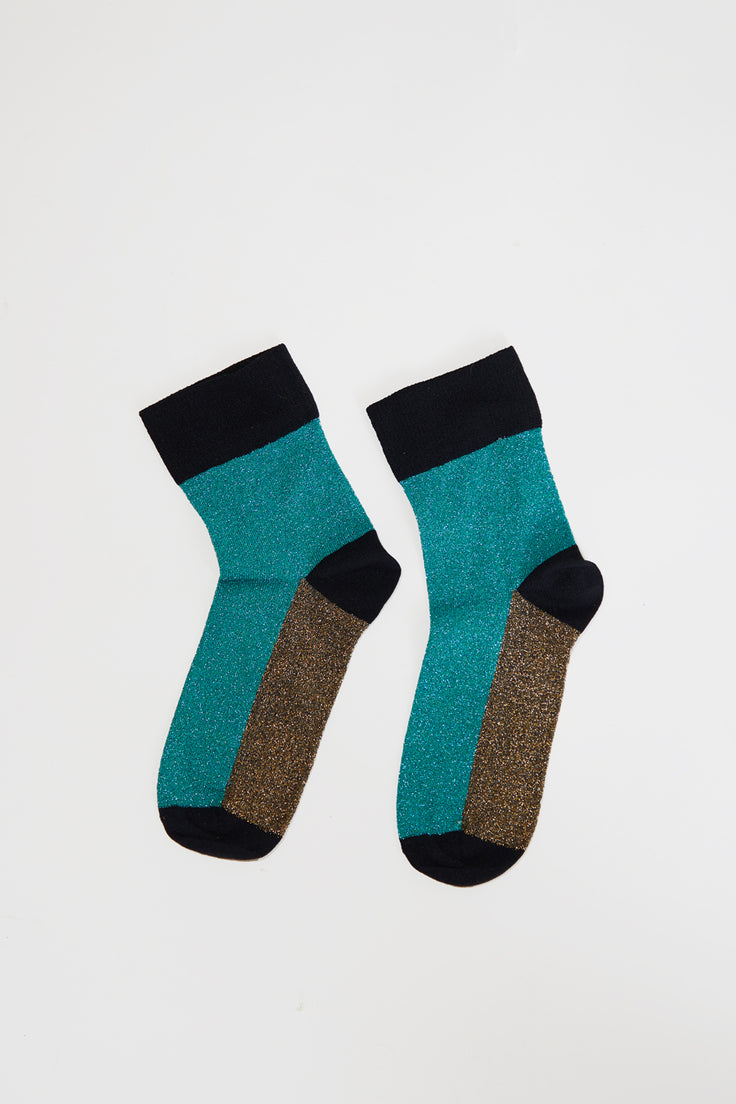 Image of Polder Arcando Colorblock Socks in Aqua