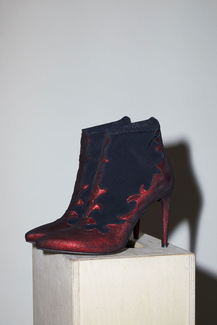 Image of No.6 Flame Boot in Marlboro / Nero