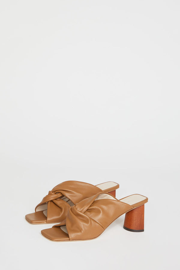 Rejina Pyo Naomi Mule in Brown Leather