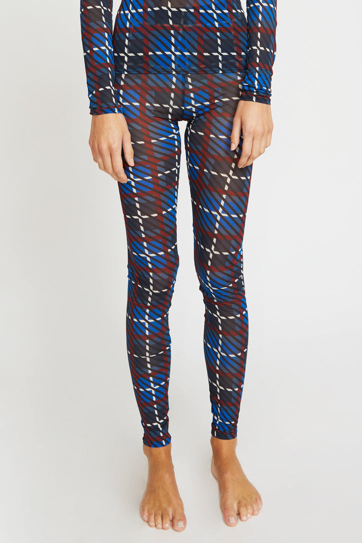 Image of Rodebjer Bianca Legging in Denim Blue Plaid