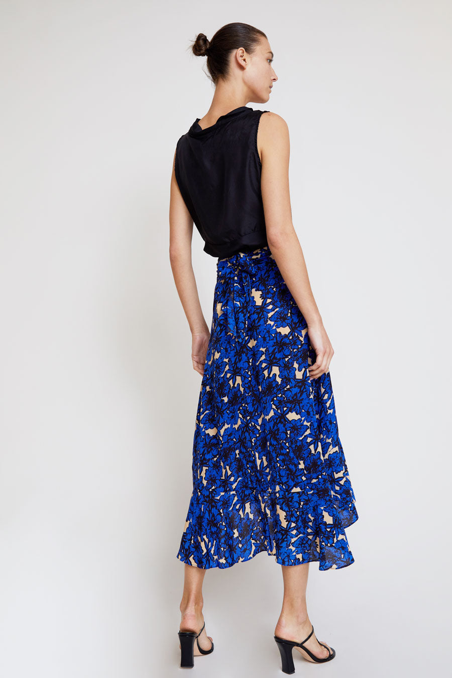 Rodebjer Malika Flower Skirt in Intense Blue
