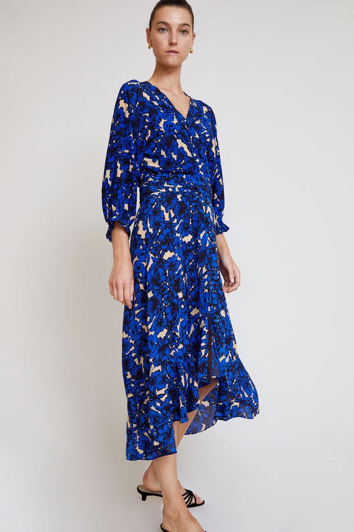 Image of Rodebjer Malika Flower Skirt in Intense Blue