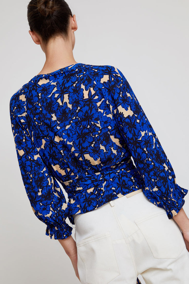 Image of Rodebjer Sali Top in Intense Blue