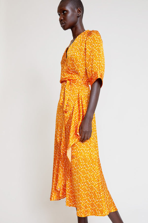 Rodebjer Kweller Wrap Dress in Mango