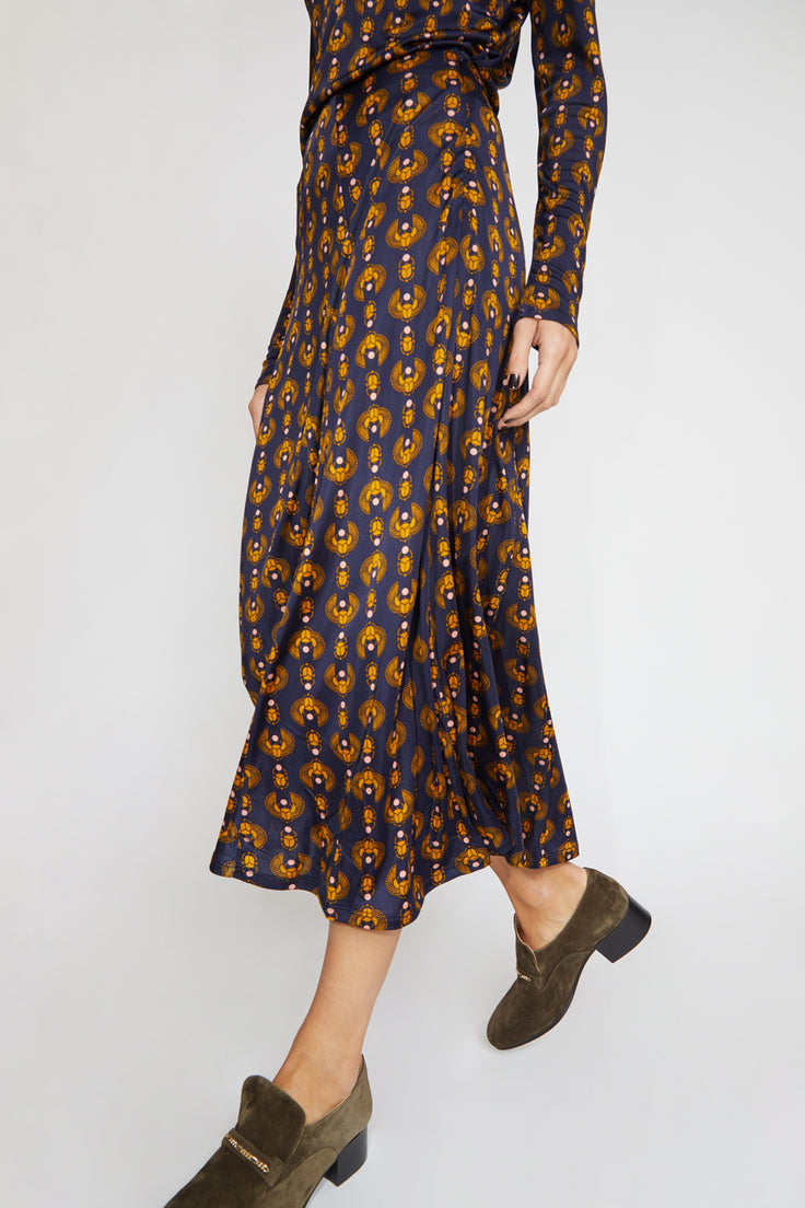Image of Rodebjer Inec Skirt in Dark Navy Scarab