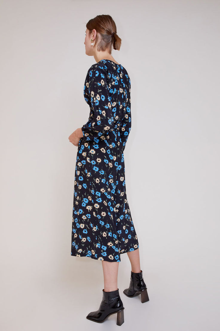 Image of No.6 Romy Jumpsuit in Black and Blue Falling Floral
