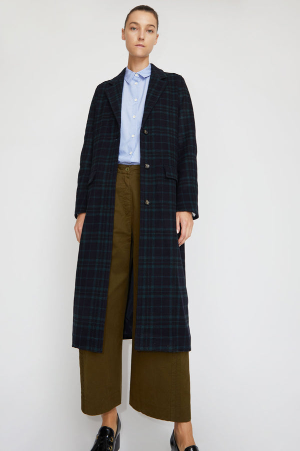 Rue Blanche Sub Zero Coat in Green Plaid