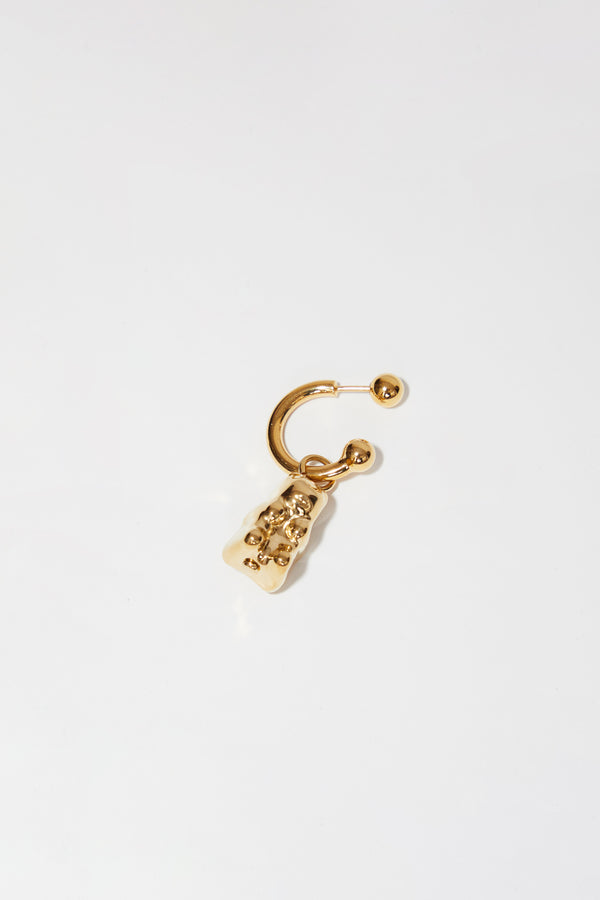Safsafu Gummy Bear Earring (Single) in 24K Gold Plated Brass