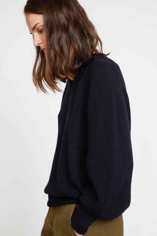 Sayaka Davis Balloon Sleeve Sweater in Black