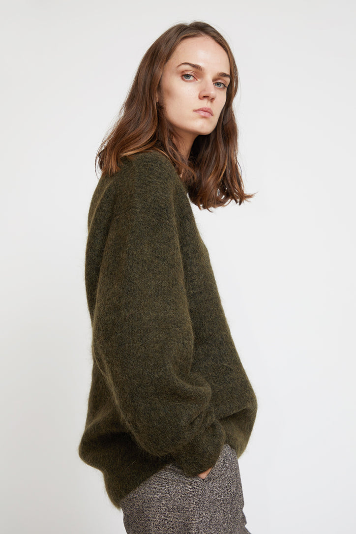 Image of Sayaka Davis Cocoon Sweater in Olive