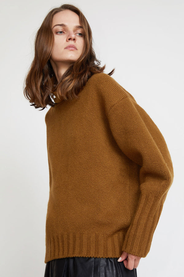 Sayaka Davis High Collar Sweater in Oak