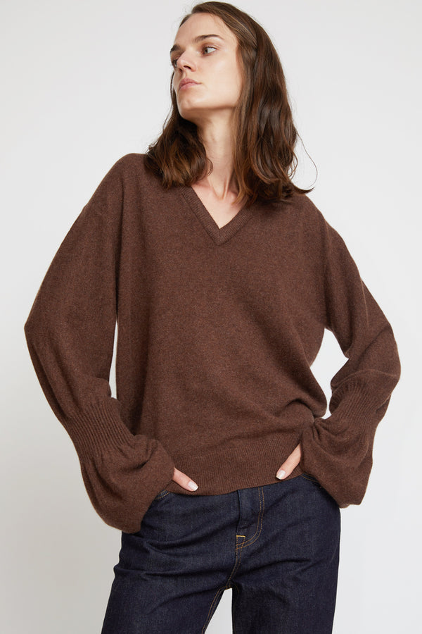 Sayaka Davis Cashmere Sweater in Nutella