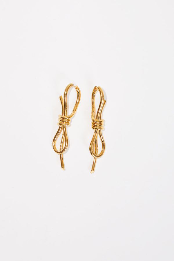 Schield Loop Earrings in Gold