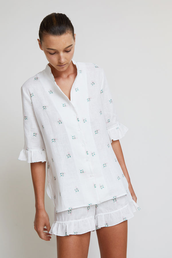 Sleeper Lounge Linen Suit in Bouquets