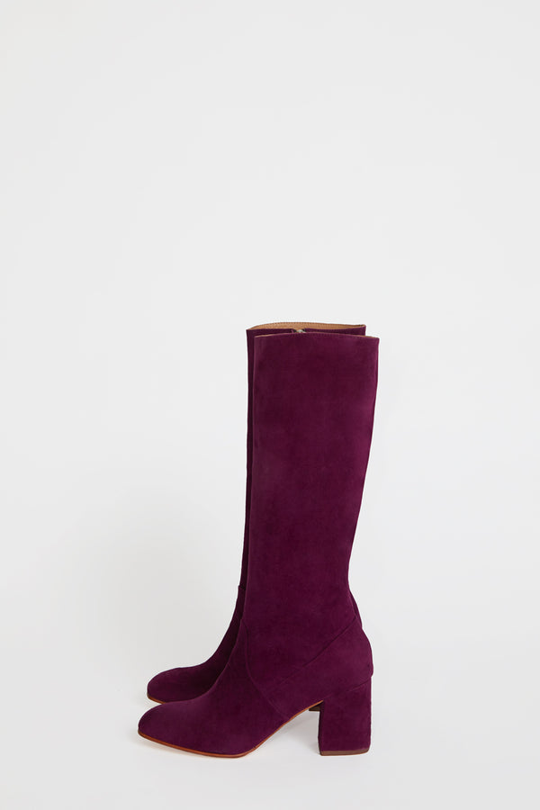 No.6 Sloan Knee High Boot in Grappa Suede