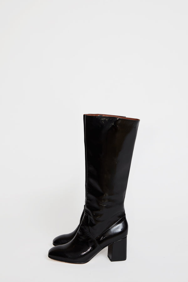 No.6 Sloan Knee High Boot in Ink Leather