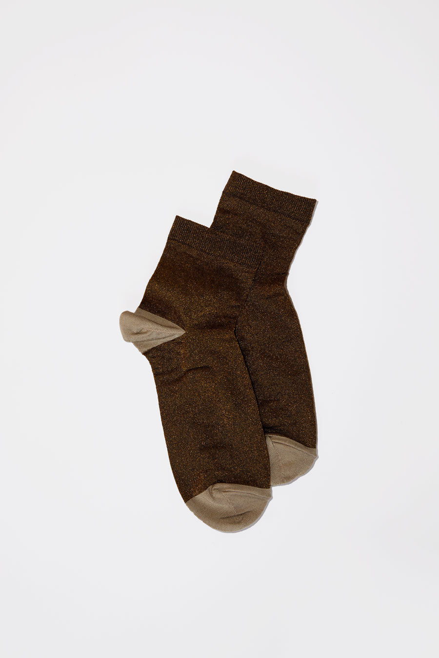No.6 Silk and Lurex Sock in Bronze