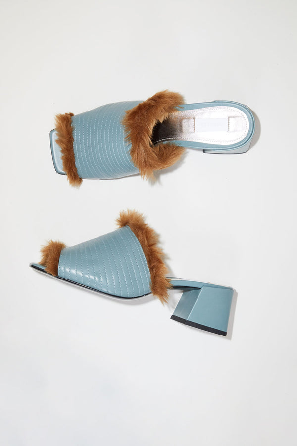 Suzanne Rae Fur Lined Sandal in Cloud
