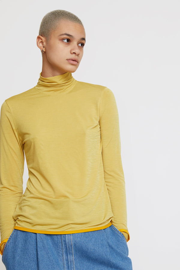 StandAlone Turtleneck Top in Yellow