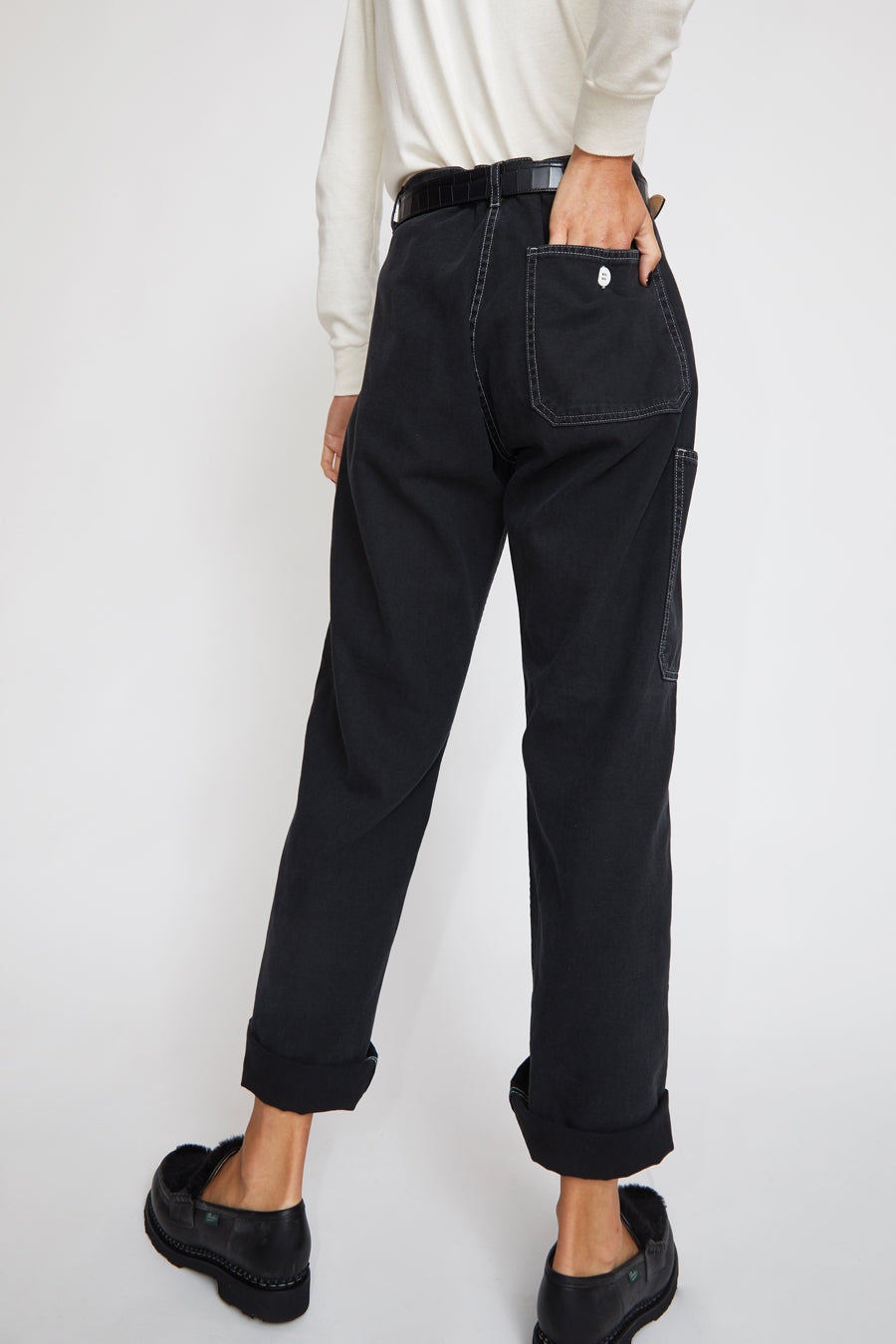 Sultan Wash Work Pant in Stone Noir